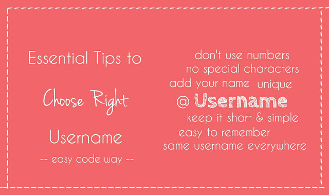 Tips to Choose Right Username