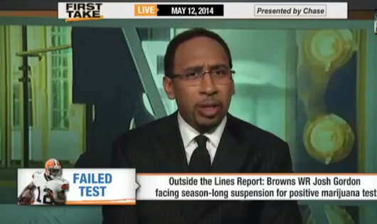 (SPORTS) Stephen A. Smith Goes OFF About Josh Gordon Getting Suspended for Weed
