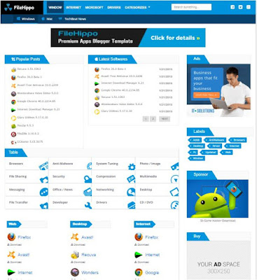 FileHippo Adsense Responsive Blogger Templates Without Footer Credit