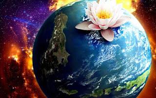 Gambar DP Bunga 3D di Bumi Luar Angkasa Wallpaper HD