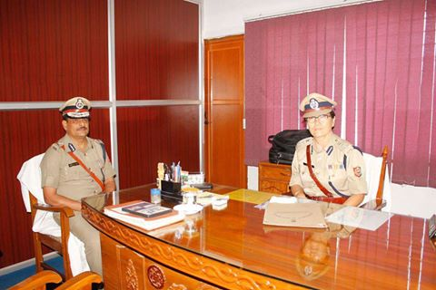 The First Lady Police Commissioner of Siliguri IPS C.S Lepcha taking chair as Siliguri Police Commissioner in place of Manoj Verma Pic Prashant Acharya