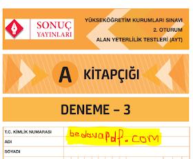 Sonuç Yayınları AYT Denemesi 3 PDF İndir