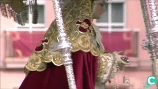 María Santísima del Amparo entrando en la SI Catedral. Semana Santa Cádiz 2019
