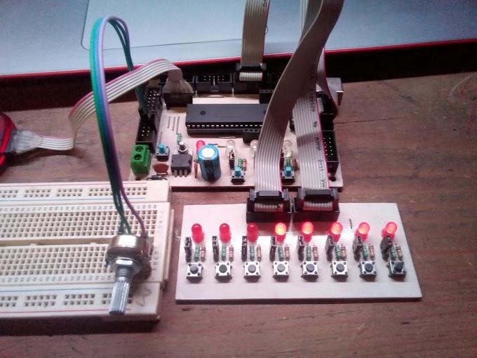 MPLAB X & ASM: Uso básico del ADC PIC16F887 - Leer potenciómetro y encender LEDs