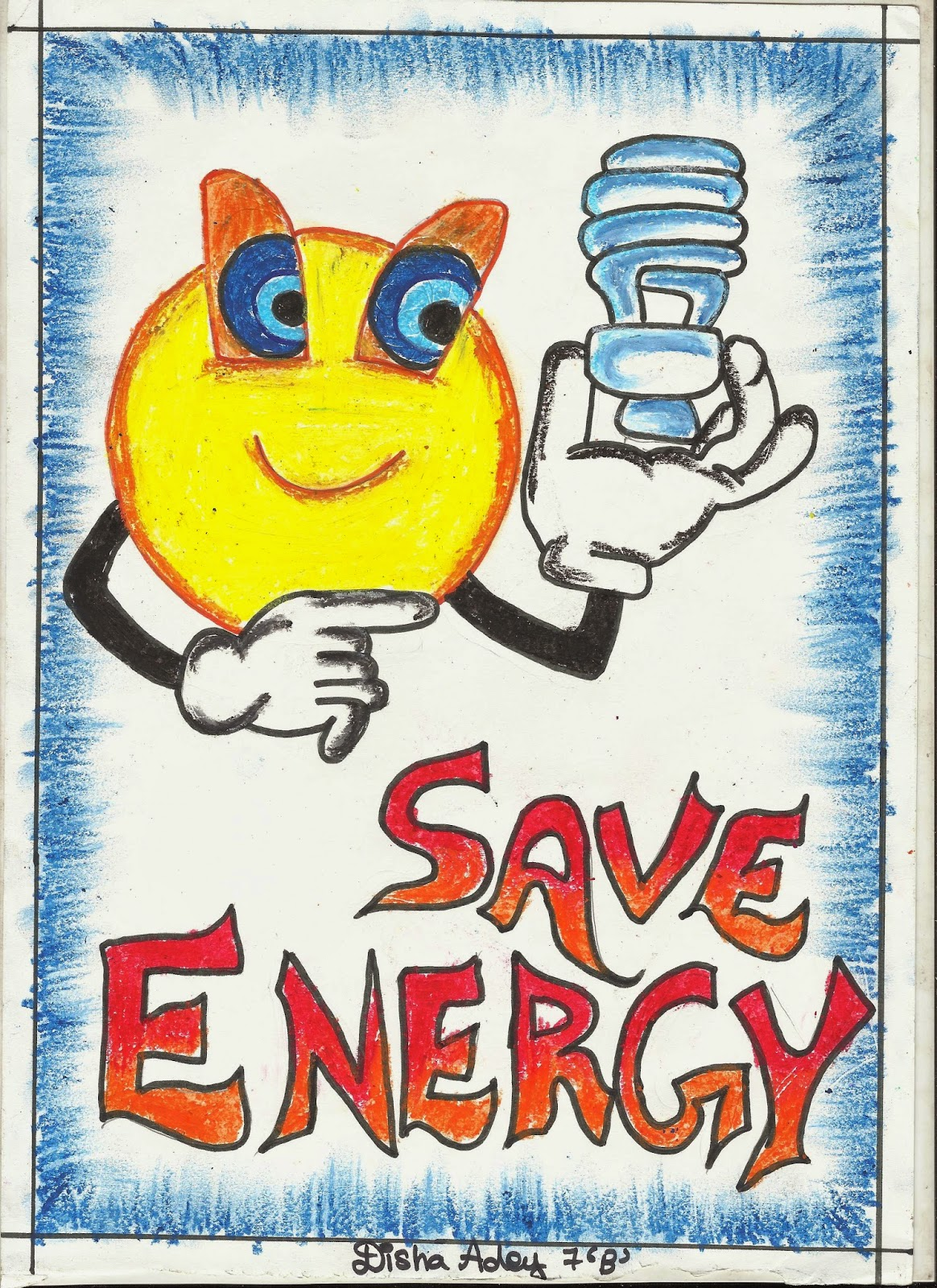 Save Electricity Drawings