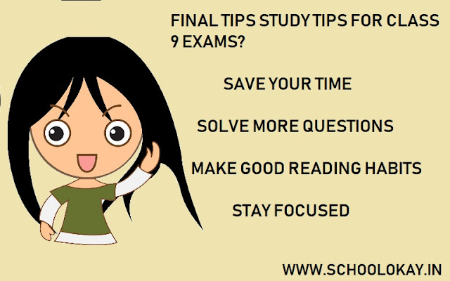 best tips for class 9 exams