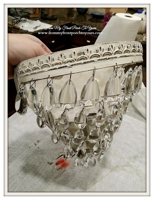 Farmhouse-Crystal Sconce Makeover- Chalk Paint-From My Front Porch To Yours