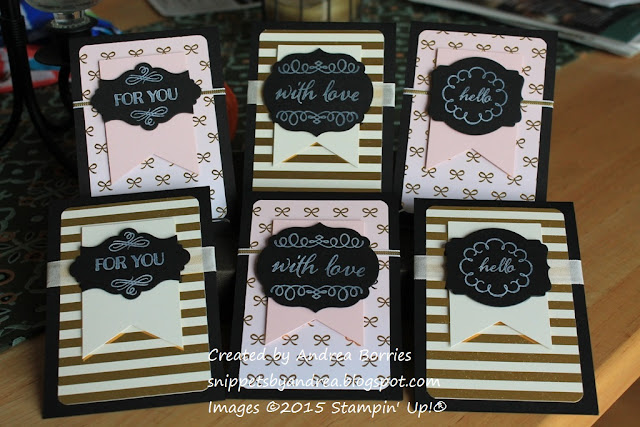 Cards made with supplies from the August 2015 Paper Pumpkin kit, Chalk It up to Love.