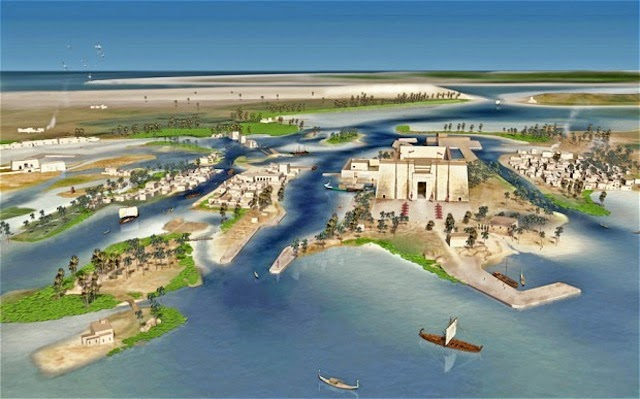 Animation of the legendary port of Thonis-Heracleion - Lost Egyptian City Found After 1,200 Years
