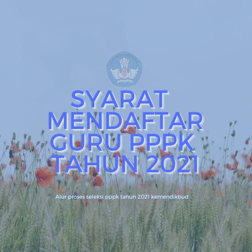 syarat pppk guru 2021