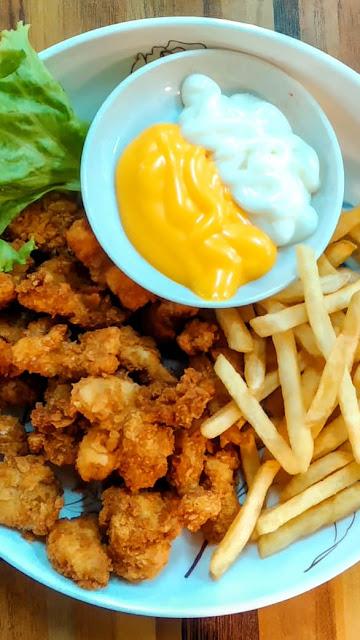 Ayam Popcorn dengan Fries Combo #codchef