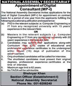 Latest Jobs in National Assembly of Pakistan  2021