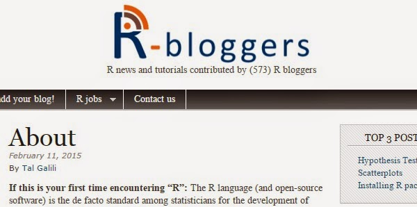 R-bloggers R stats + Digital Analytics
