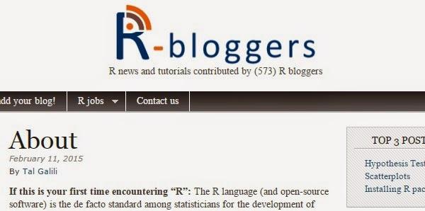 R-bloggers R stats + Digital Analytics