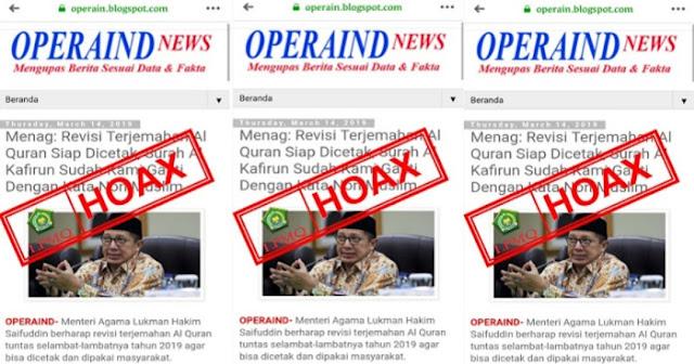 Beredar Fitnah Surah Al Kafirun Diganti Non Muslim, LPMQ: itu Hoax!