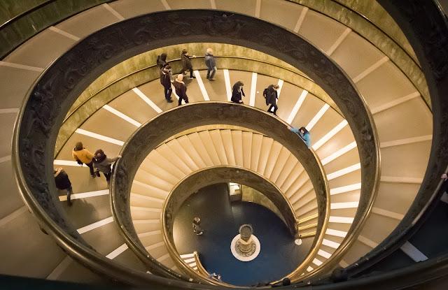 Escalier de Bramante, Vatican, Rome, Italie, Italy, Italia