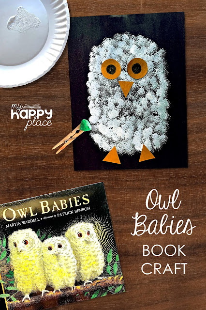 Owl Babies Painting Craft, Art Project