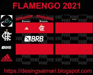 Camiseta Flamengo 2021 Adidas (Vector Gratis)