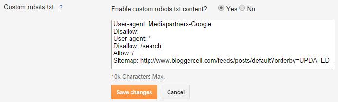enable custom robots