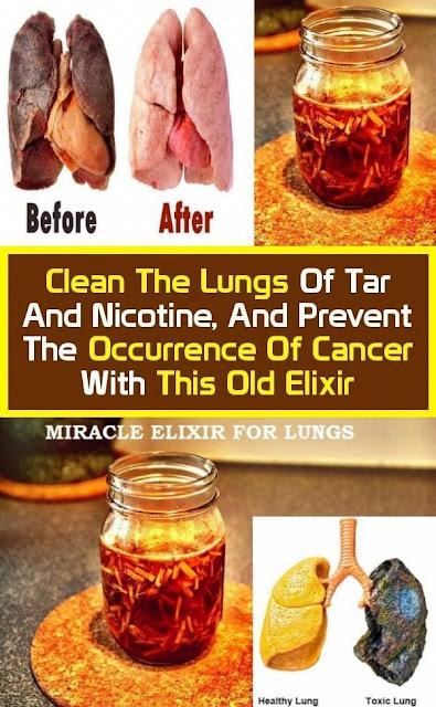 Clean The Lungs Of Tar And Nicotine, And Prevent The Occurrence Of Cancer With This Old Elixir