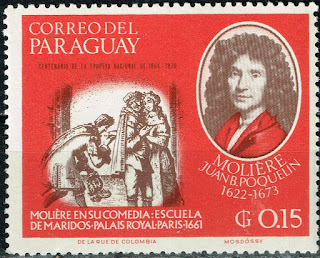 Paraguay Famous French Playwriter Moliere stamp