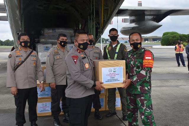 Wakapolda Jambj Lepas Bansos Jambi Peduli Bencana Gempa Bumi di Sulawesi Barat dan Banjir di Kalimantan Selatan