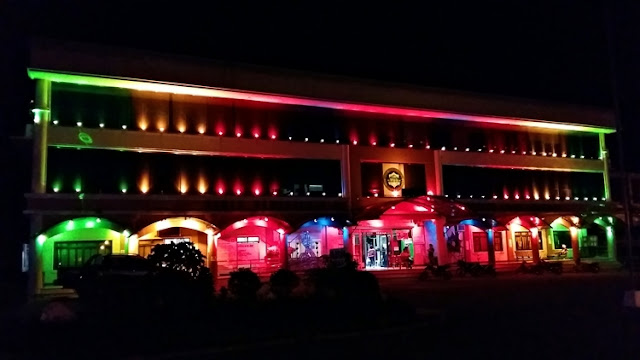 Christmas colors, lights at Polomolok Municipal Hall