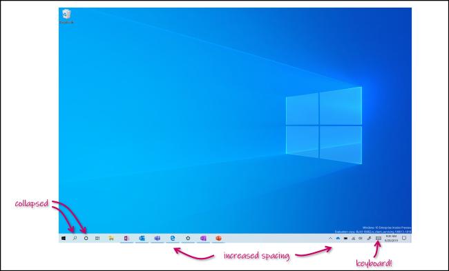 وضع الكمبيوتر اللوحي الجديد في Windows 10