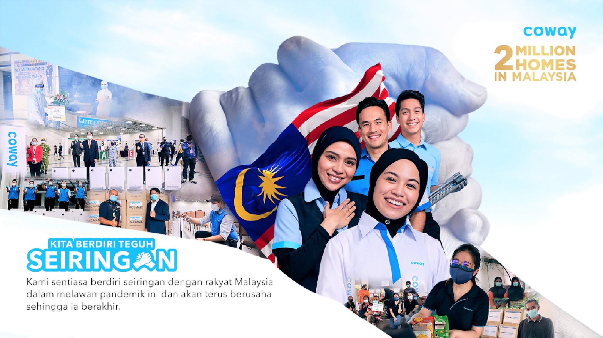 Kempen 'Kita Berdiri Teguh Seiringan' Coway Malaysia Menyatukan Rakyat Malaysia Untuk Melawan Pandemik