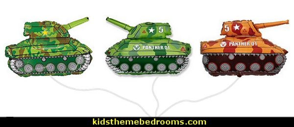 Army Tank Balloons