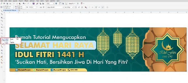 Download Spanduk Idul Fitri CDR CorelDraw