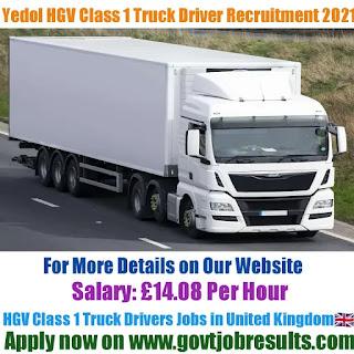 Yedol HGV Class 1 Truck Driver Recruitment 2021-22