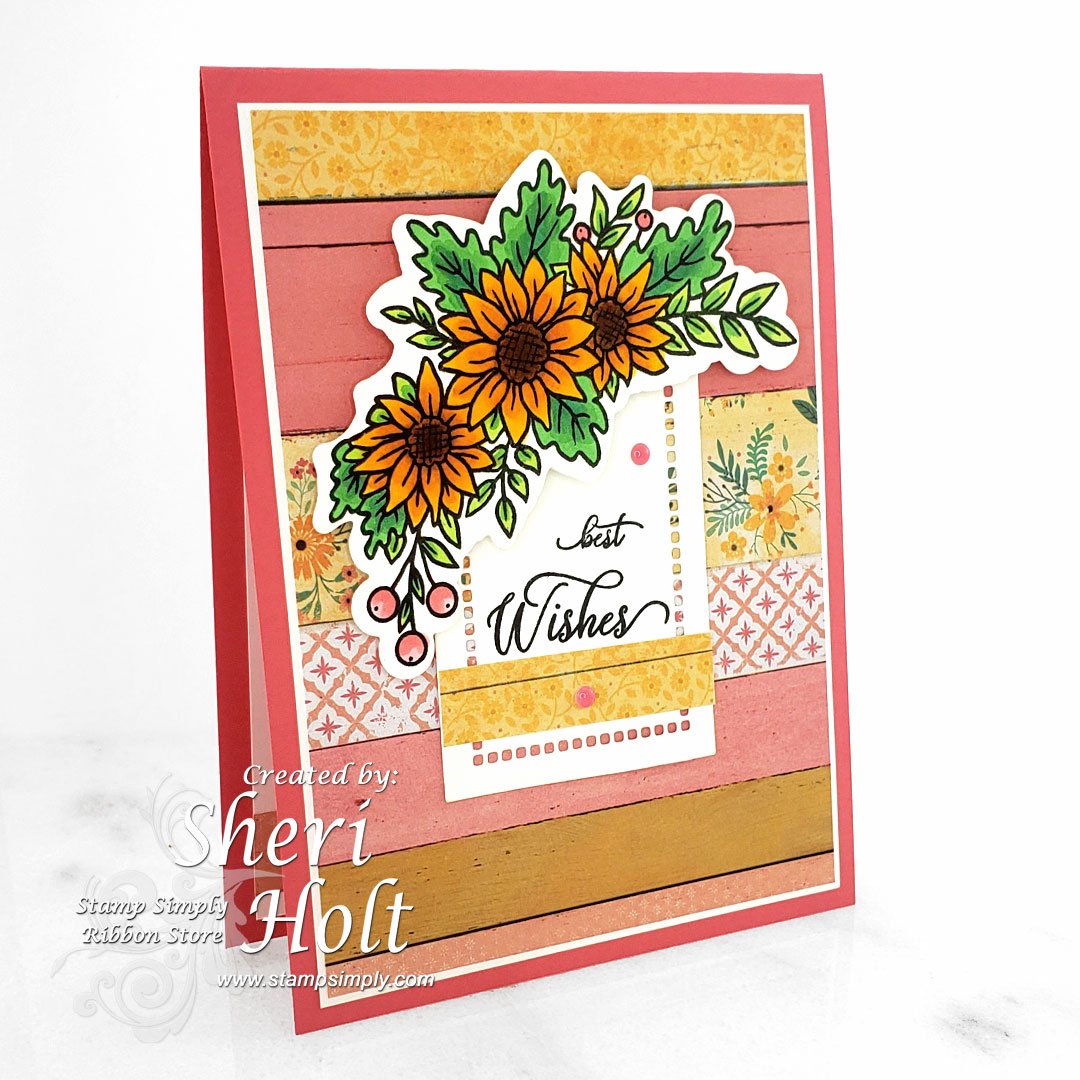 Stamp Simply Floral Cluster Fall Flowers
