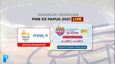 Paket Nonton Siaran PON Papua 2021