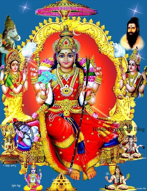 Navratri Goddess Lalitha Tripura Sundari