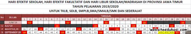 Kalender Pendidikan Provinsi Jawa Timur Tahun 2019/2020