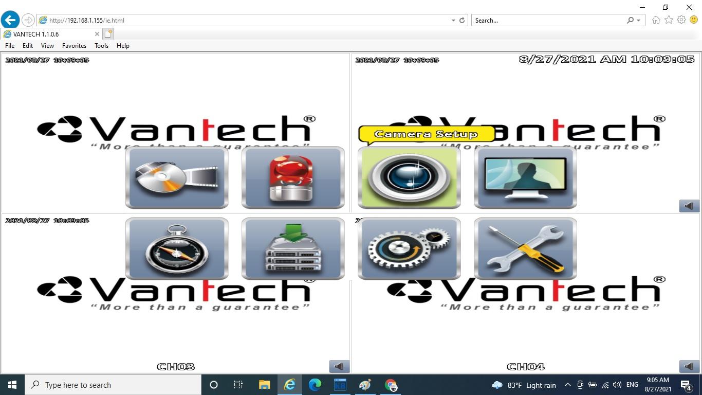 Chuyển hệ camera IP trên đầu ghi hình DVR Vantech