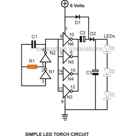 voltage doubler circuit using IC 4049