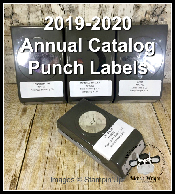 Label, Free, Stampin UP, Punch