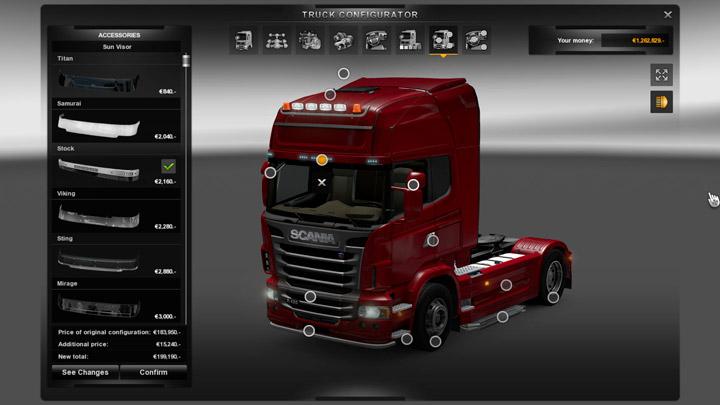 Euro Truck Simulator 2 configuración de trailer