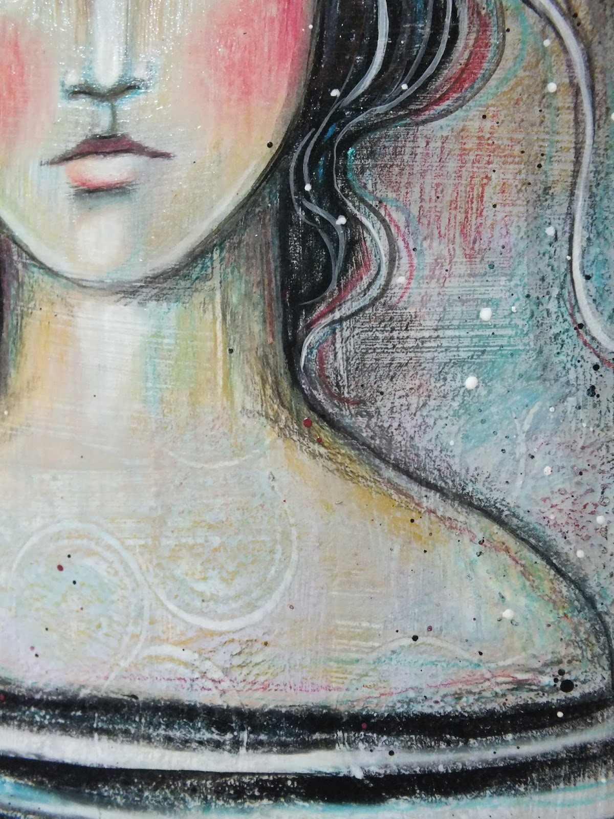 Pencil And In Color Drawing: Pennystamper: New Acrylic And Colored Pencil Painting