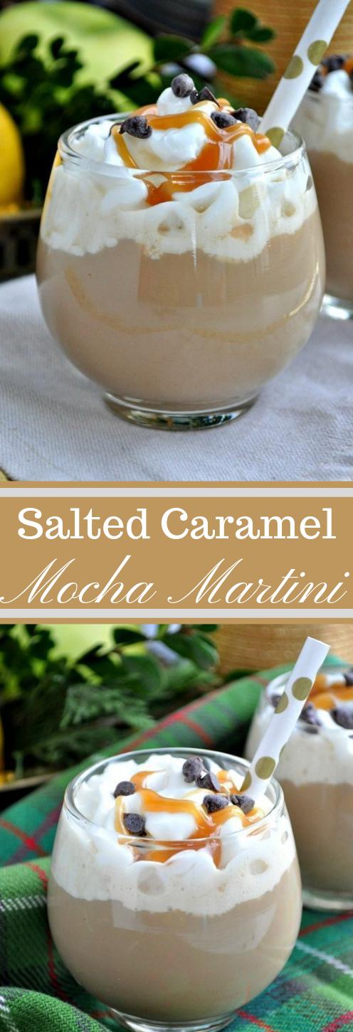 SALTED CARAMEL MOCHA MARTINI #drink #caramel