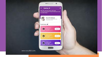 Download aplikasi Zenius melalui android dan iOS