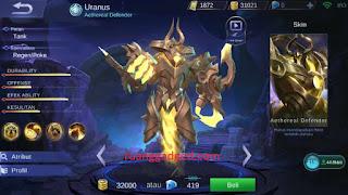 Penjelasan Lengkap! Kelebihan, Kekurangan, Build dan Cara Menggunakan Hero Tank Uranus