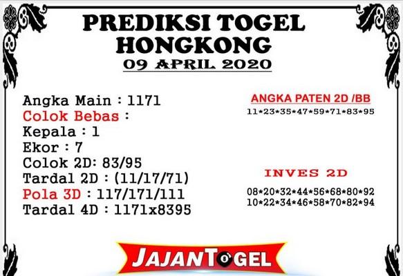 Prediksi Togel Hongkong Kamis 09 April 2020 - Prediksi Jajan Togel