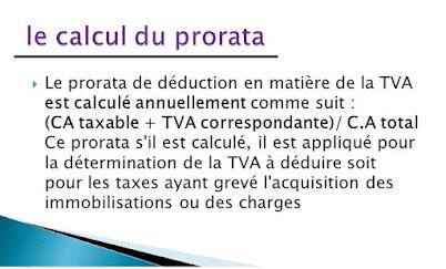 Le calcul de prorata du TVA avec des exemples appliquées