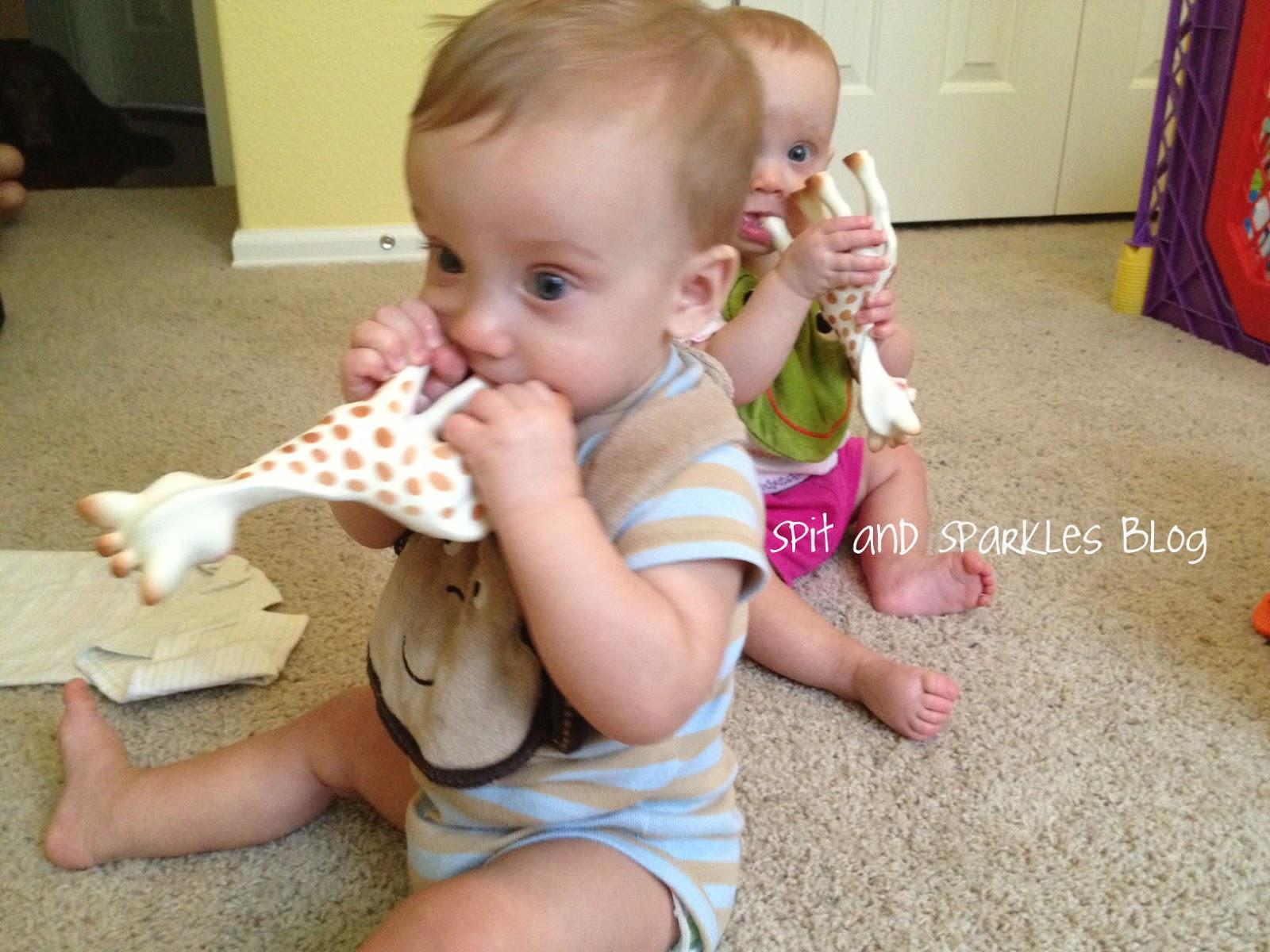 Teething with Sophie la girafe
