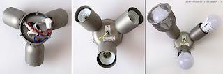 Klarstein Charleston lampadario ventilatore, portalampade