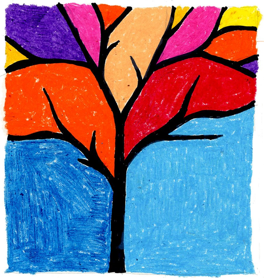 Abstract Tree - Art Projects for Kids