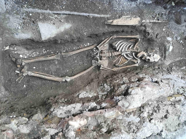 Three skeletons found under metro station in Rome